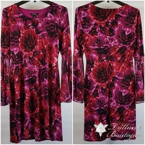 Style&Co. Stunning Floral Sequin Dress Size Small